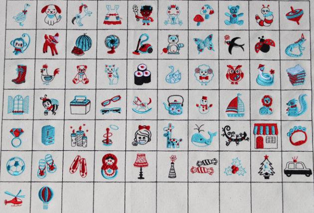 あいうえお刺繍オリジナル刺繍データの一覧