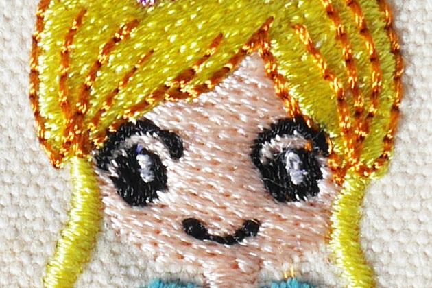 プリンセスの刺繍制作