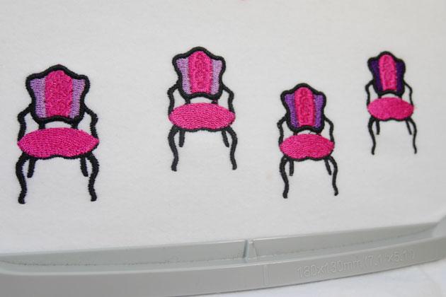 ビンテージ椅子の刺繍