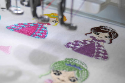 イラスト刺繍の時の白目が大事なことを発見