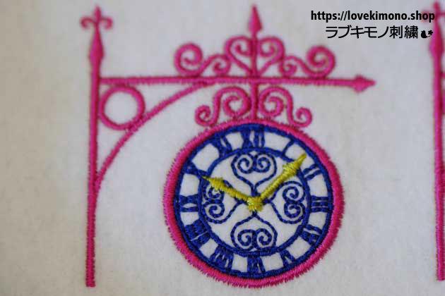 時計の刺繍データ試し縫い