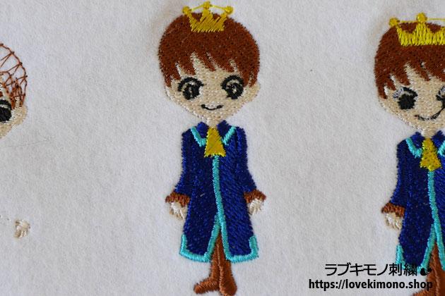 シンデレラの王子様の刺繍