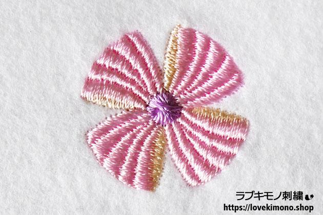 ピンクの風車風リボン