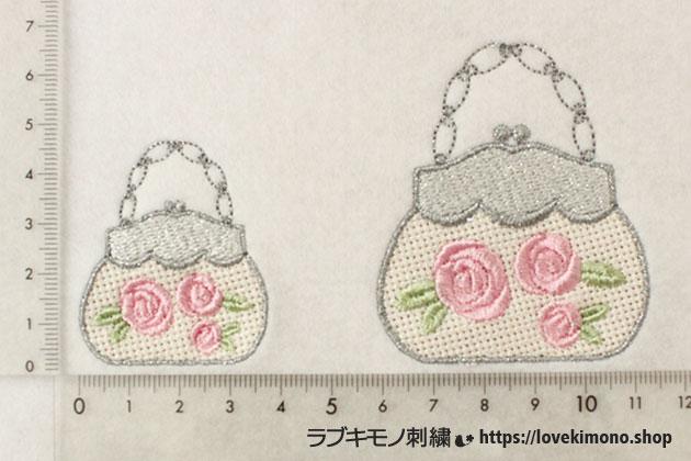 薔薇のミシン刺繍