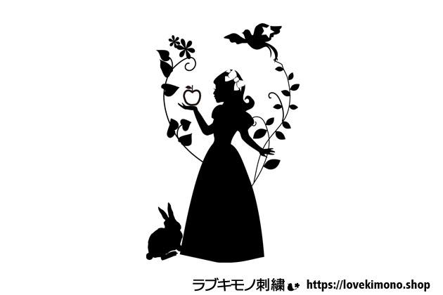白雪姫の刺繍図案