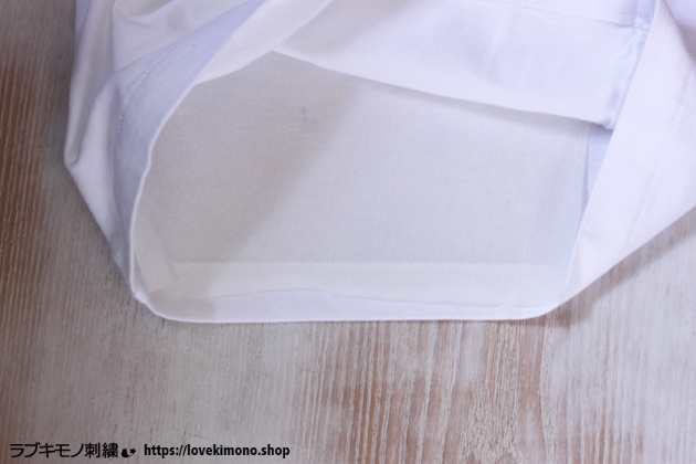 らぶ着物刺繍の刺繍の下準備、刺しゅう用下紙を貼る