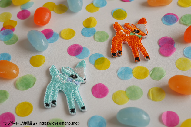 バンビの刺繍