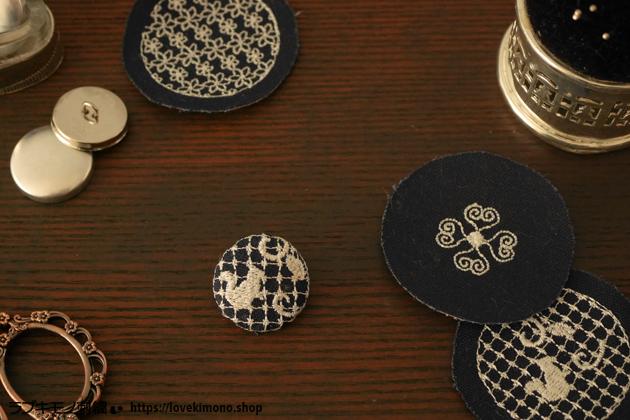 刺繍ミシンで作る、くるみボタン