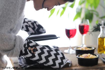 ダイソーのミトンとワンポイント刺繍は相性バッチリ