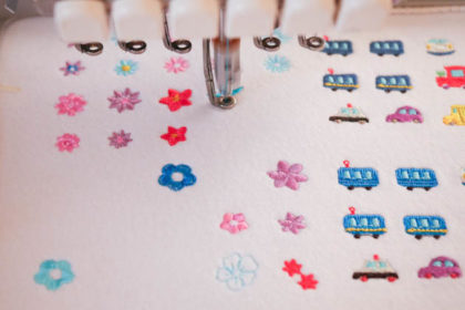 "<span class=""title"">「もっともっと小さい刺繍」の試し縫い中♪</span>"